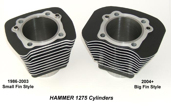 Small Fin 1986-2003 1275 Cylinder and Big Fin 2004-present 1275 Cylinder for Harley Davidson XL Sportster or Buell