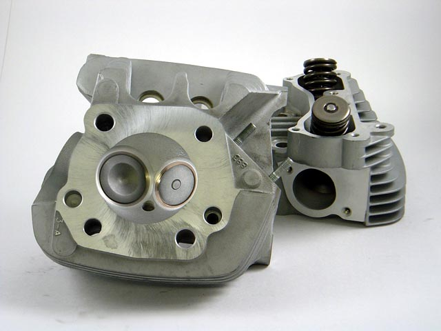 HAMMER PERFORMANCE IMPACT CNC Ported Harley 883 Sportster Cylinder Heads