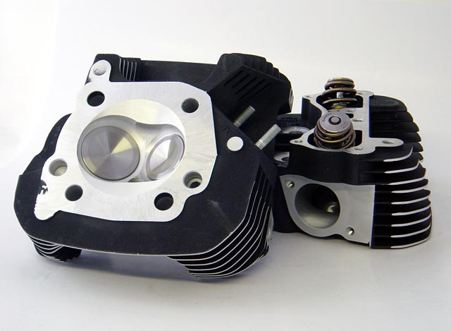 HAMMER PERFORMANCE CNC Ported XLH1200 Sportster Cylinder Heads