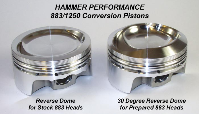 Sledge Hammer Pistons used in 883 to 1200 or 1212 or 1250 or 1275 conversions