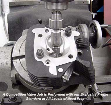 Competition Valve Job Being Performed on a Harley Davidson Sportster Head